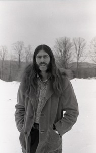 Thumbnail of Bruce Geisler: half-length portrait, standing in the snow