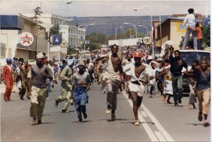 Thumbnail of Jubilation in Maseru streets as news of Chief Jonathan's overthrow             spreads