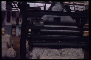 Thumbnail of Cotton mill: cotton carding(?) machine