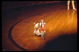Thumbnail of Shanghai acrobats: monkey act, riding a tricycle