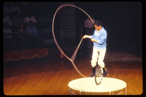 Thumbnail of Shanghai acrobats: man on a unicycle with lasso