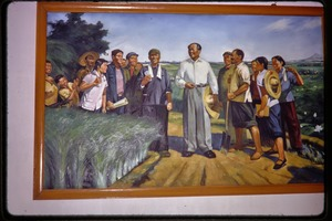 Thumbnail of Shijiazhuang Production Brigade: poster showing Chairman Mao talking with             farmers