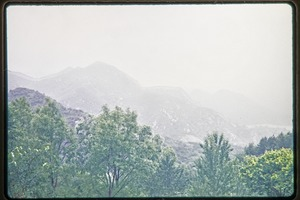Thumbnail of View of the mountainous landscape and Great Wall