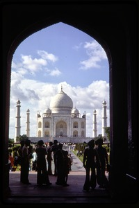 Thumbnail of Trip to the Taj Mahal: view through and archway of the Taj Mahal