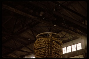 Thumbnail of Cotton mill: unidentified structure hanging from rafters