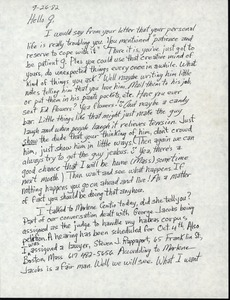 Thumbnail of Letter from Frank 'Parky' Grace to Gloria Xifaras Clark