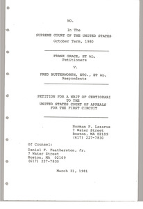 Thumbnail of Petition for a writ of certoiorari to the United States court of appeals for the first circuit