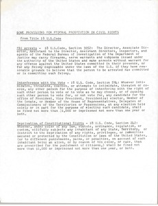 Thumbnail of Some provisions for the federal prosecution in civil rights