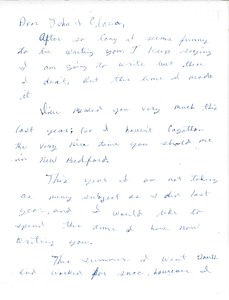 Thumbnail of Letter from Wilbur Colom to Gloria Xifaras Clark