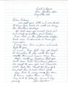 Thumbnail of Letter from Charleane Hill to Gloria Xifaras Clark