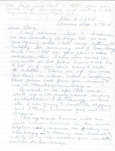 Thumbnail of Letter from Mrs. Maravell to Gloria Xifaras Clark