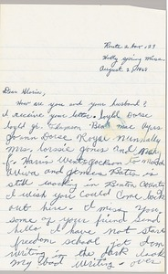 Thumbnail of Letter from Imogene Reaves to Gloria Xifaras Clark