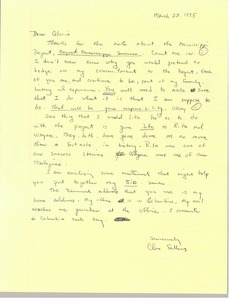 Thumbnail of Letter from Cleveland Sellers to Gloria Xifaras Clark