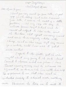 Thumbnail of Letter from Louise D. Smith to Gloria Xifaras Clark