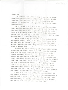 Thumbnail of Letter from Ellie Sunderman to Gloria Xifaras Clark