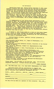 Thumbnail of Invitation to the anniversary of the Student Nonviolent Coordinating Committee