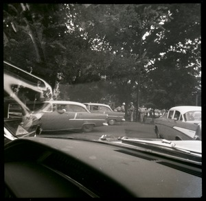 Thumbnail of Gathering of cars and police