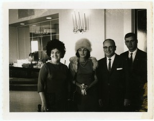 Thumbnail of Helen Maravell, Gloria Xifaras Clark, George Maravell, and Nick Maravell (l. to             r.)