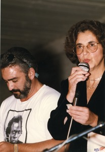 Thumbnail of James Oliviera and Gloria Xifaras Clark, djing a jazz event