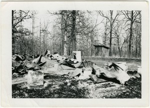 Thumbnail of St. Joseph's Church (Marshall County), burned Feb. 22, 1965, after having civil             rights meetings there