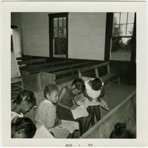 Thumbnail of Freedom School students seated on church pews in Mt. Zion CME Church