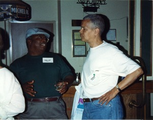 Thumbnail of Hardy T. Frye and Julian Bond at Mississippi Homecoming Reunion