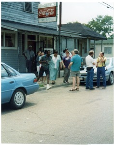 Thumbnail of Attendees at Mississippi Homecoming Reunion outside Becker's Place cafe