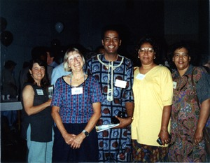 Thumbnail of Marjorie Merrill, Cleveland Sellers, Charleana Hill Cobb, and Laura Strong at Mississippi Homecoming Reunion