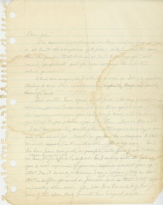Thumbnail of Letter from Cynthia Miller to John