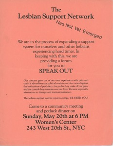 Thumbnail of Lesbian support network