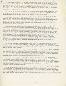 Thumbnail of Mental Patients Liberation Front statement