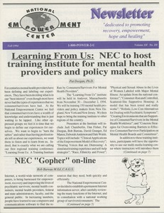 Thumbnail of National Empowerment Center newsletter vol. 3 no. 3 Fall