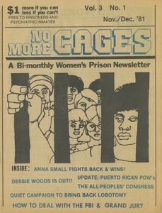 Thumbnail of No more cages A Bi-monthly women's prison newsletter vol. 3 no. 1 November/December