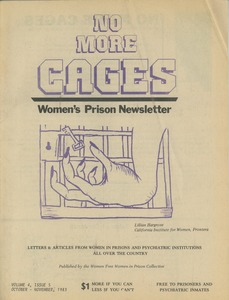 Thumbnail of No more cages A Bi-monthly women's prison newsletter vol. 4 no. 5 October/November