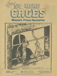 Thumbnail of No more cages A Bi-monthly women's prison newsletter vol. 5 no. 5 Winter Issue
