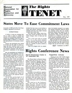 Thumbnail of The  Rights Tenet 1987 May