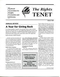 Thumbnail of The  Rights Tenet 1997 Winter