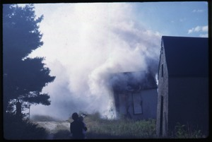Thumbnail of Shanties burning, Duxbury Cranberry Company