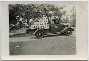Thumbnail of Duxbury Cranberry Company truck and float for Fourth of July parade