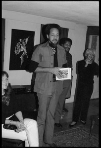Thumbnail of Michael Thelwell addressing the audience, at the book party for Robert H. Abel