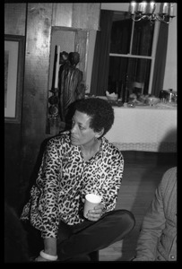 Thumbnail of Johnnetta Cole: informal portrait, seated, at the book party for Robert H. Abel
