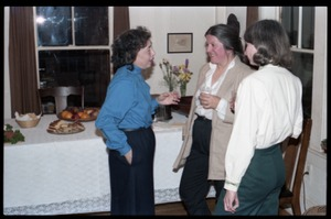 Thumbnail of Women talking in the kitchen, at the book party for Robert H. Abel