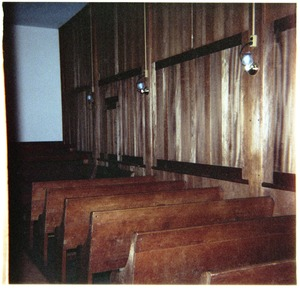 Thumbnail of Meetinghouse interior, North Dartmouth Monthly Meeting View of benches and interior space