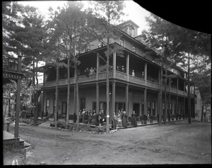 Thumbnail of Lake Pleasant Hotel Guests gathered on the porches