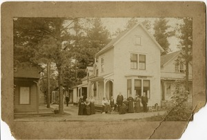 Thumbnail of Minnie Bacon place, corner of 8th Ave., Lake Pleasant Cottage and residents