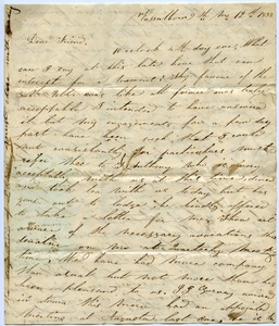 Thumbnail of Letter from L. Purington to Thomas Howland