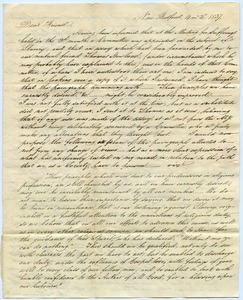Thumbnail of Letter from Abraham Shearman to Thomas Howland