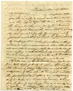 Thumbnail of Letter from Samuel B. Tobey to Thomas Howland