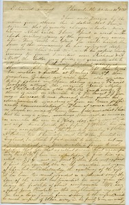 Thumbnail of Letter from A. Pierce to Thomas Howland