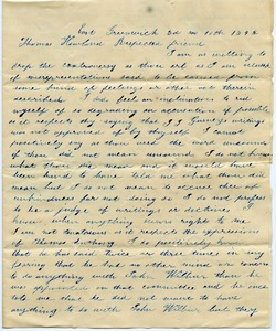 Thumbnail of Letter from George C. Kenyon to Thomas Howland